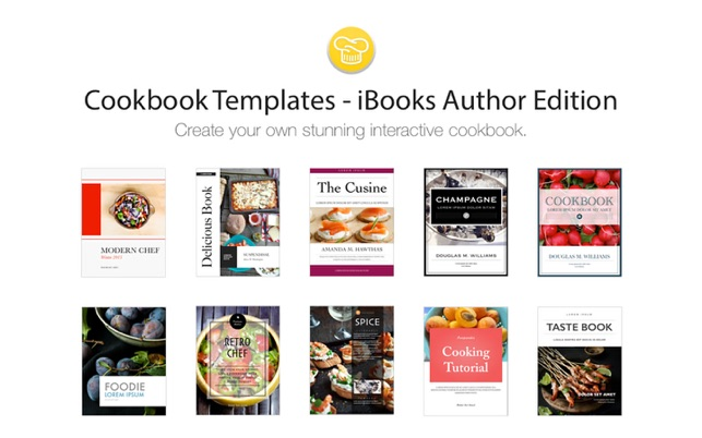 Cookbook Templates iBooks Author Edition on the Mac App Store