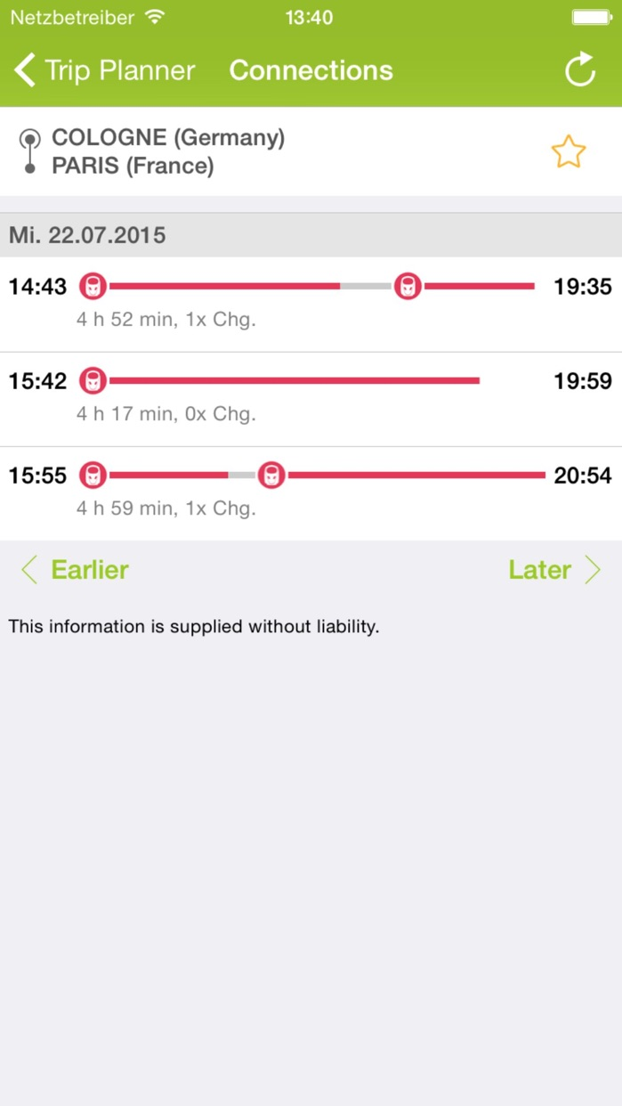 Rail Planner Eurail/Interrail Screenshot