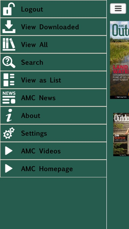 AMC Outdoors – The Magazine of the Appalachian Mountain Club screenshot-1