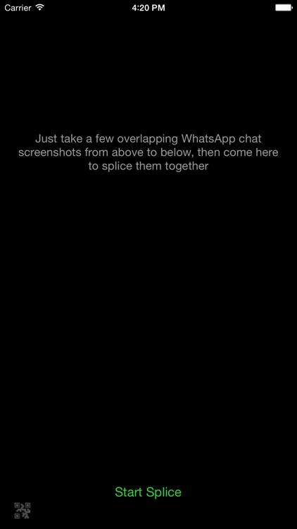 W-Splicing - Chat record splicing for WhatsApp screenshot-4