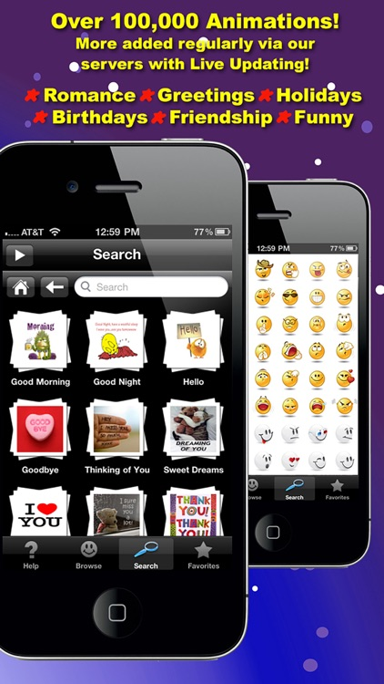 3D Animations + Emoji for MMS Text Messaging with 500,000+ Animated Emoticons for iPhone and iPad screenshot-3