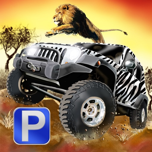 3D Safari Parking Free - Realistic Lion, Rhino, Elephant, and Zebra Adventure Simulator Games