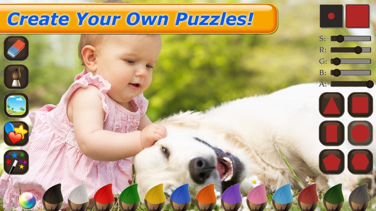 Dog Puzzles - Jigsaw Puzzle Game for Kids with Real Pictures of Cute Puppies and Dogs screenshot-4