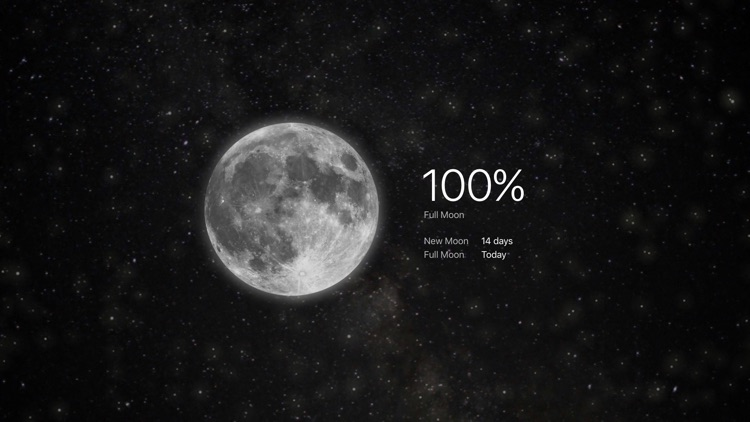 MOON - Current Moon Phase for TV