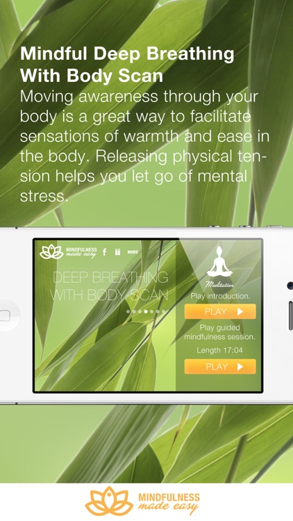 Mindfulness Made Easy - meditations for relaxation, focus and compassion screenshot-3