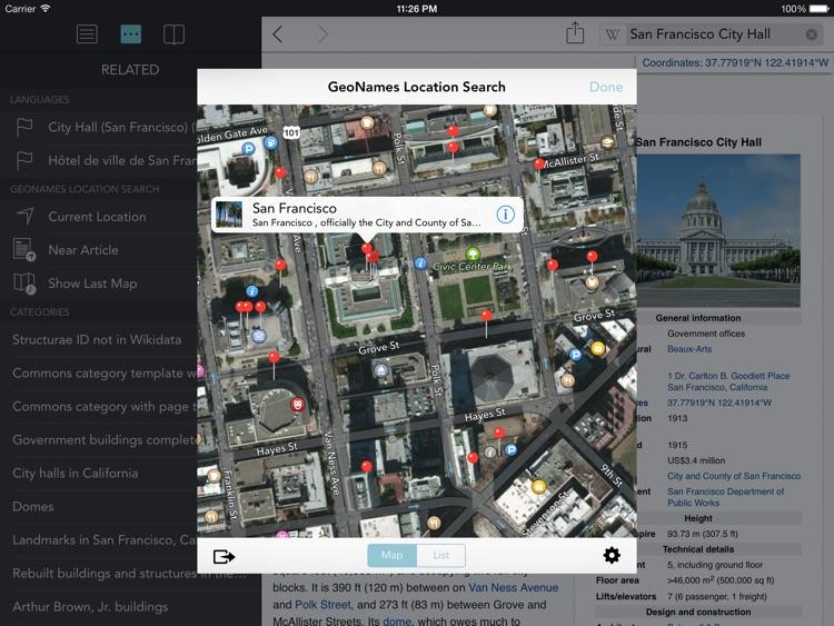 Wikipanion for iPad screenshot-3