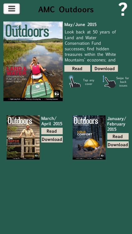 AMC Outdoors – The Magazine of the Appalachian Mountain Club screenshot-0