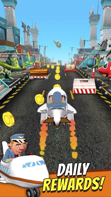 Mini Planes - Free Cartoon Air Craft Runner Game for Kids screenshot-4