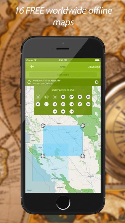 Track Kit Pro - GPS Tracker with offline maps, Compass, Speedometer, Rangefinder and Theodolite