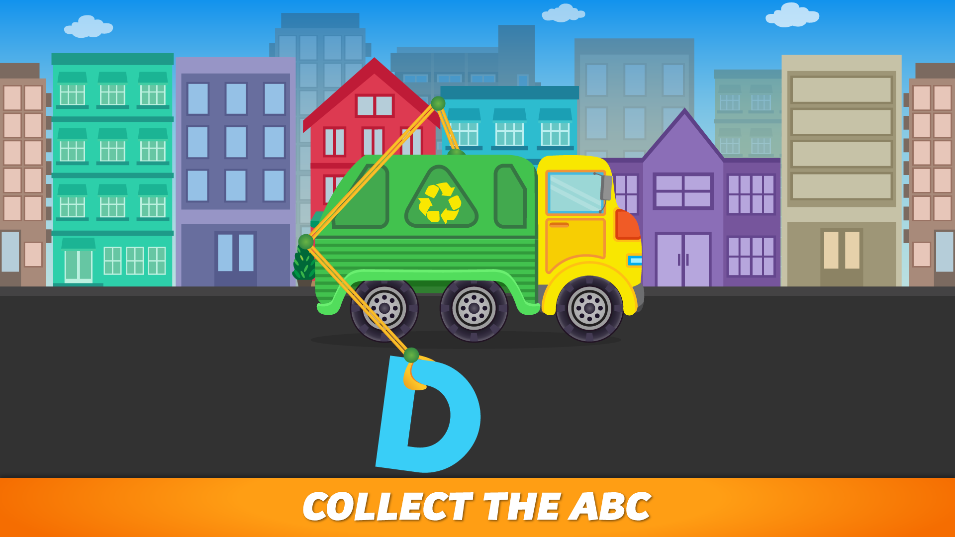 ABC Garbage Truck - Alphabet Fun Game for Preschool Toddler Kids Learning ABCs and Love Trucks and Things That Go screenshot 2