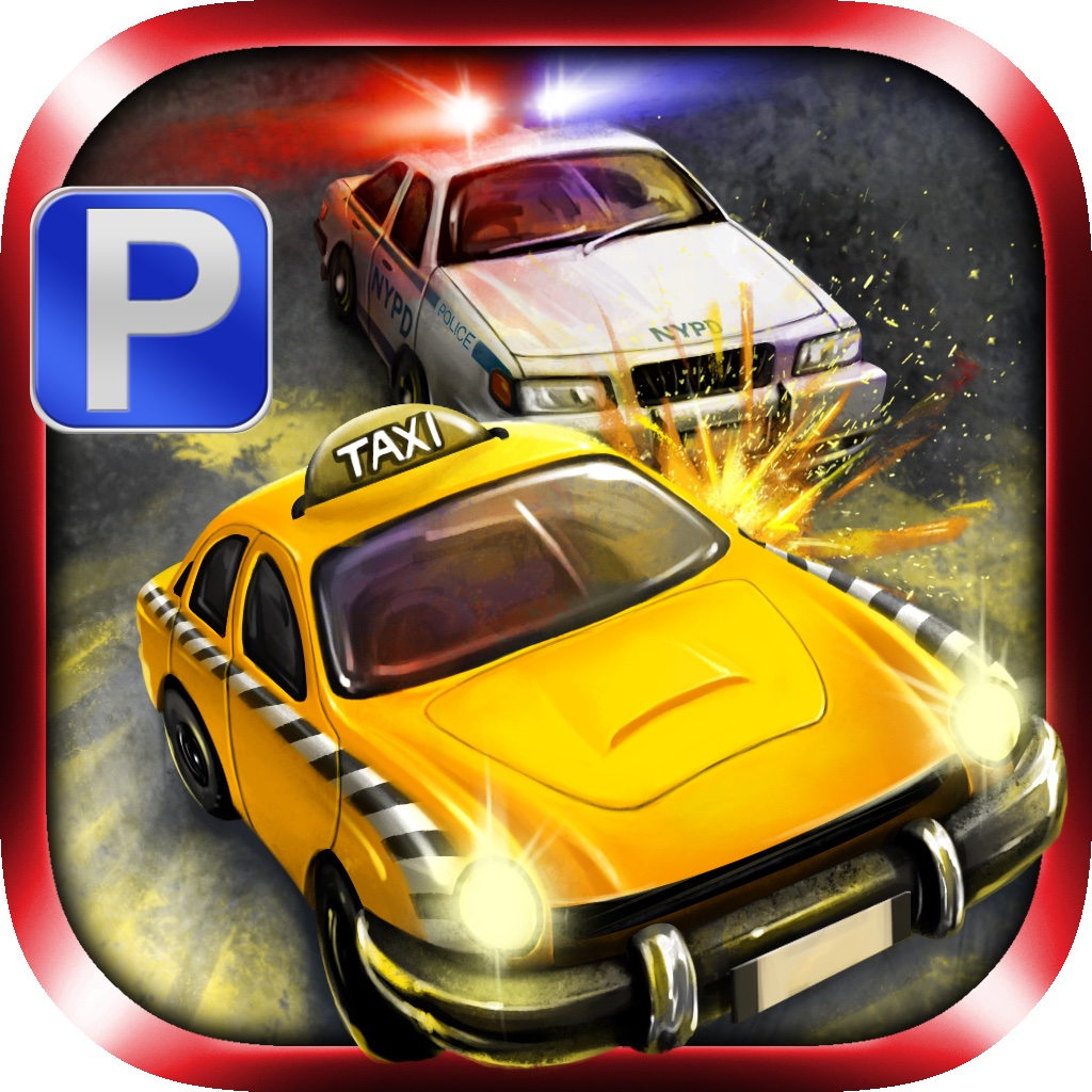 3D Gangster Taxi Parking - eXtreme Car Driving & Police Chase Simulation Games