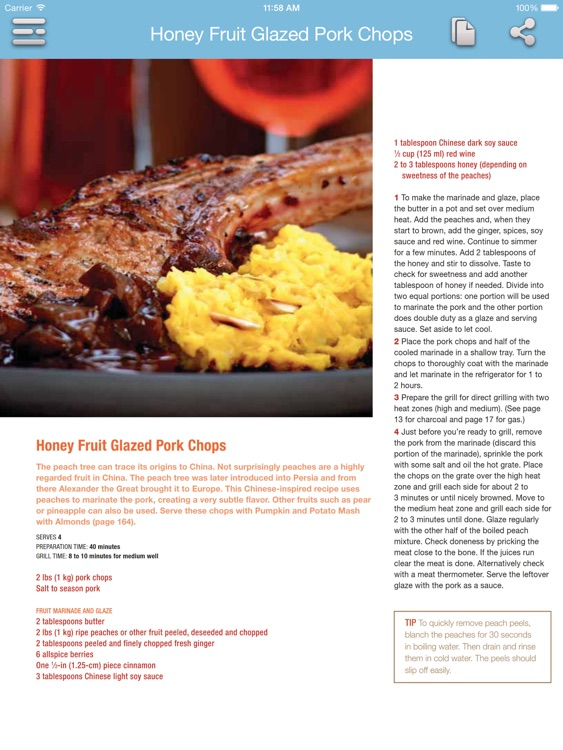 Barbecue Cookbook for iPad screenshot-4
