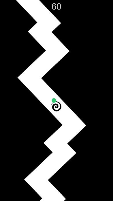 Zig Turn Race green point ziggy dash action game online screenshot three