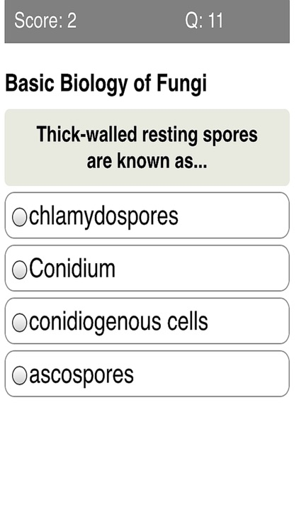Medical Mycology Quiz