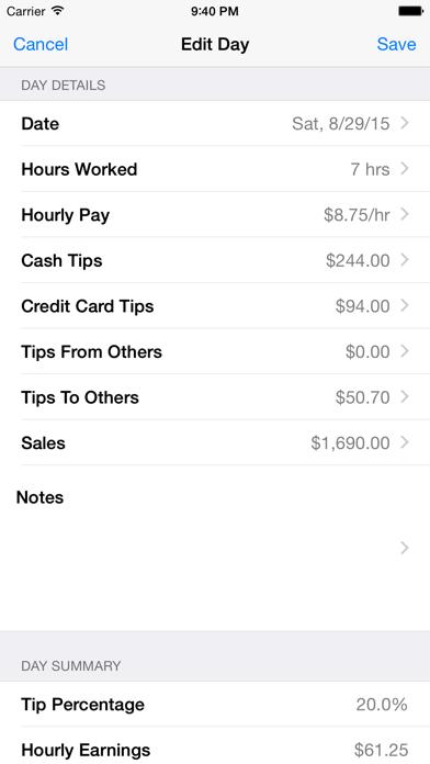 Tip Sheet Lite screenshot three