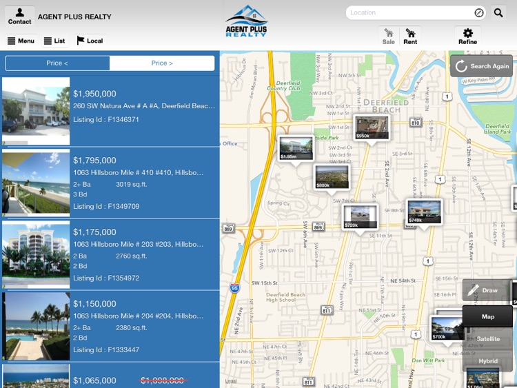Agent Plus Realty - Search Homes for Sale for iPad screenshot-0