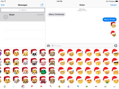 Christmas emoji keyboard