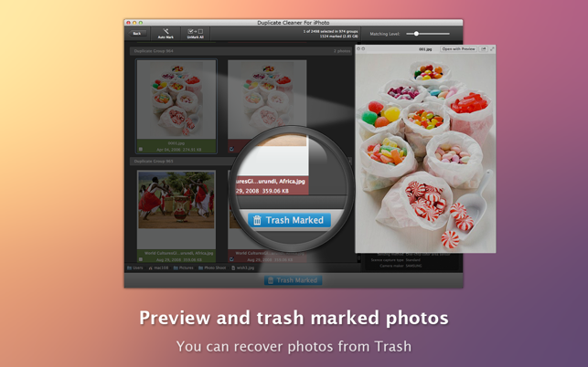 ‎Duplicate Cleaner For iPhoto Screenshot