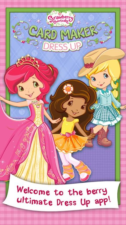 Strawberry Shortcake Card Maker Dress Up - Fashion Makeover Game for Kids screenshot-0