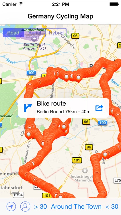 Germany Cycling Map