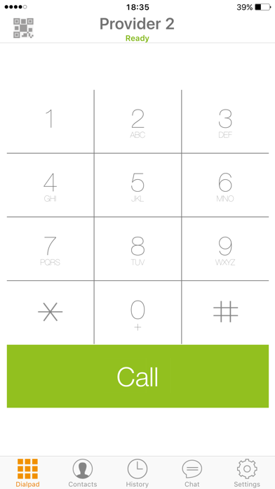 Screenshots of Zoiper SIP softphone for iPhone