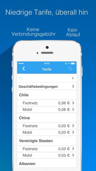 Nubefone: Billige internationale und lokale AnrufeScreenshot von 3
