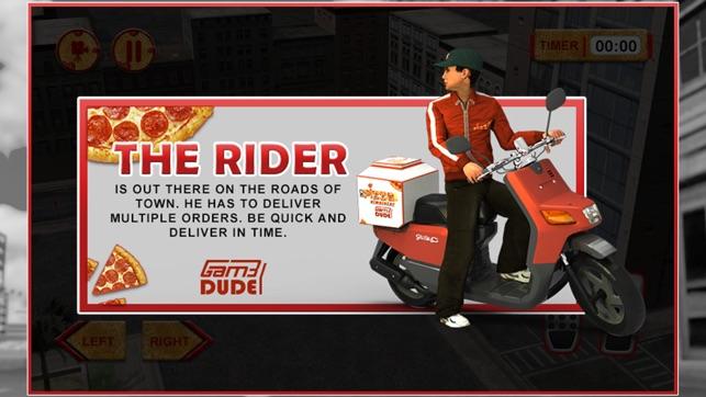 3d simulateur pizza boy fou coureur de moto et de livraison motards roulant simulation jeu d. Black Bedroom Furniture Sets. Home Design Ideas