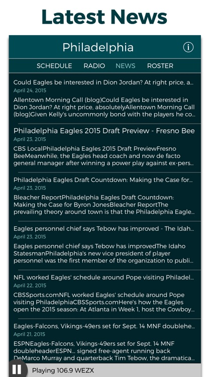 Philadelphia Football Radio & Live Scores screenshot-3