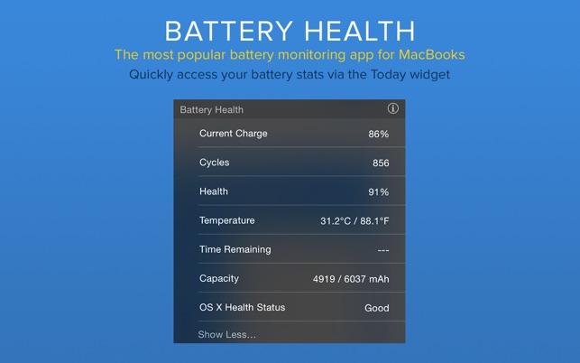 Battery Health for Mac 5.6 内购版 – 全能电池健康医生查看器-爱情守望者