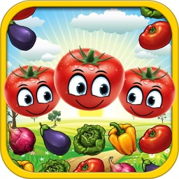 Vegetable Blast Mania - smash hit farm vegetable crush heroes game free