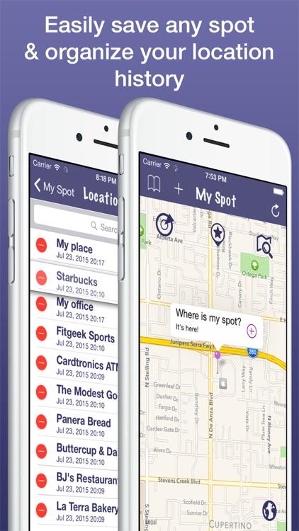 My Spot Pro - Map Location & Parking Spot History