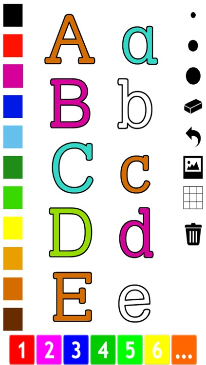 ABC Pics Coloring Book for Toddlers with the Letters of the Alphabet