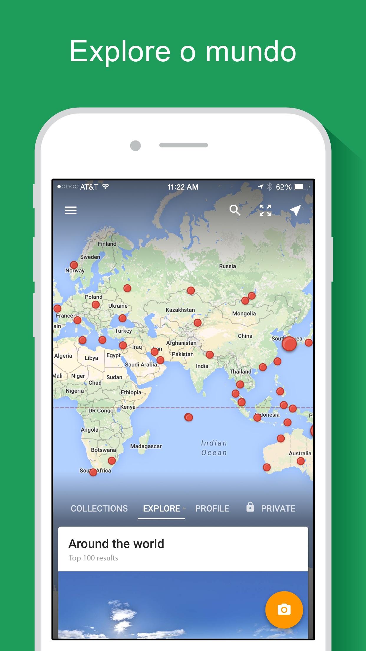 Screenshot do app Google Street View