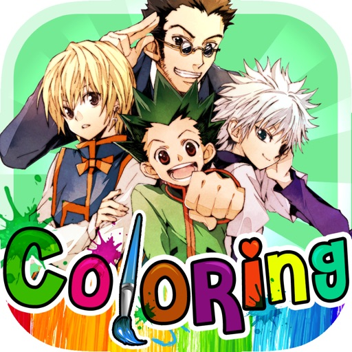 Coloring Anime & Manga Book : Cartoon Pictures on The Hunter x Hunter for Kids