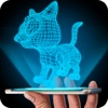 Hologram 3D Cat Simulator