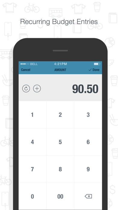 BUDGT - monthly finances, day by day Screenshot