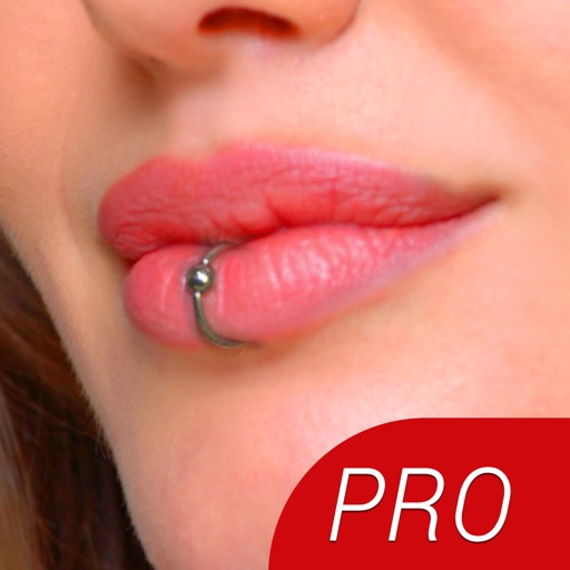 Lip Piercing Booth PRO - Try HD Lip Rings for your Cute Face or Send Piercing Idea to a Body Piercing Saloon