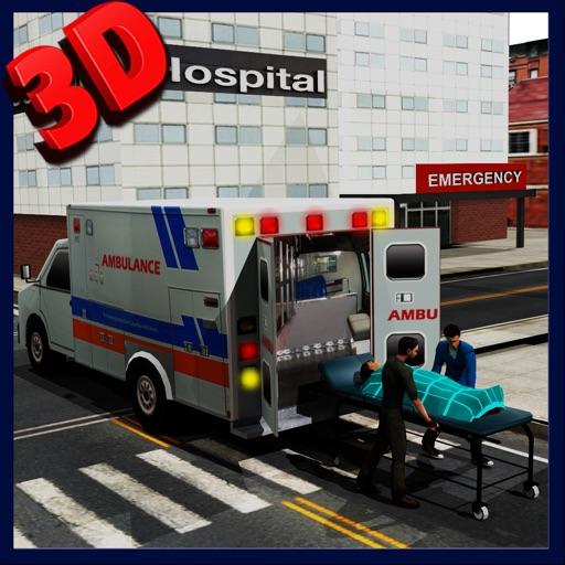 Скорая помощь аварийно-спасательных симулятор 3d - ехать быстро принимать бедствие травмированного пациента городской больницы