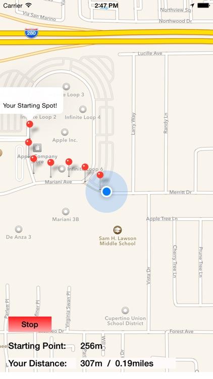 My Jogging Trail - GPS distance tracker