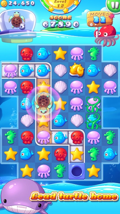 Ocean Joy - 3 match Mermaid splash puzzle game screenshot-4