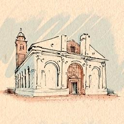 Римини.  Аудиогид с альбомом фотографий маршрута и картой города
