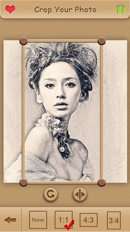 Sketch Guru Pro - Portrait Photo Editor to add pencil & cartoon effects, texts, stickers on pic screenshot-3