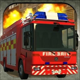 Fire Fighter Hero Parking Simulator - 911 Emergency Truck Driving Game