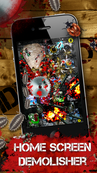 iDestroy Free: Game of bug Fire, Destroy pest before it age! Bring on insect war! screenshot two