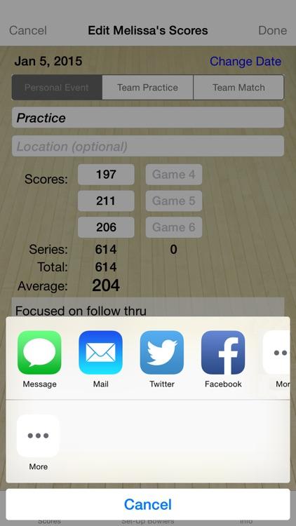 Bowling Score Averages