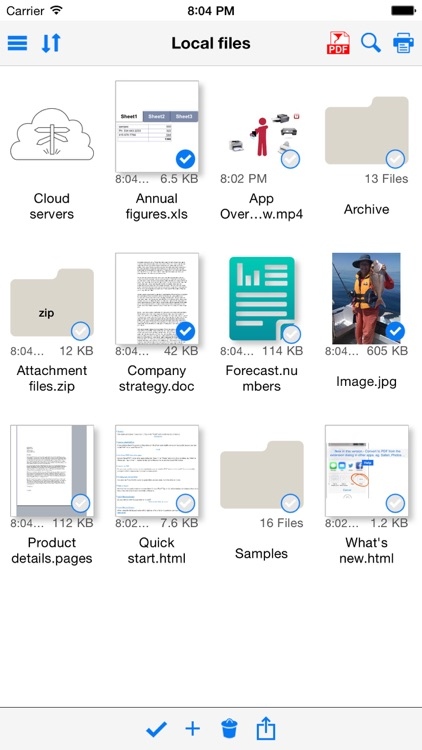 Save2PDF for iPhone screenshot-0