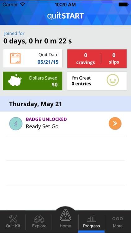 quitSTART - Quit Smoking screenshot-3