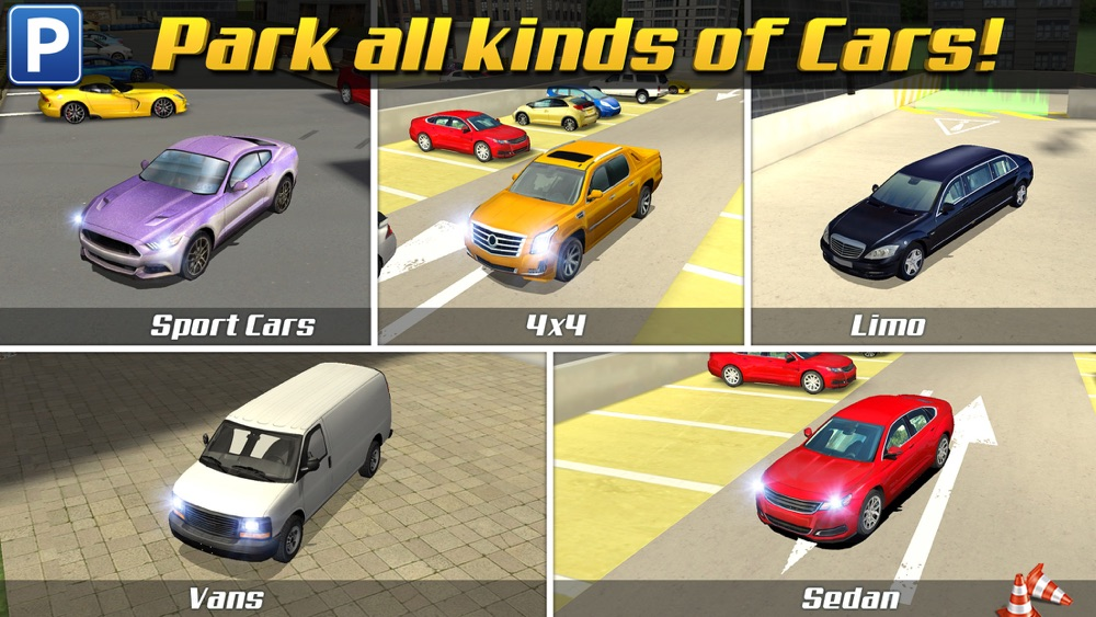 Multi Level 3 Car Parking Game Real Driving Test Run Racing Cheat Codes