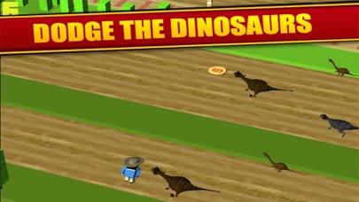 Jurassic Crossy - Dino Crossing Roads screenshot two