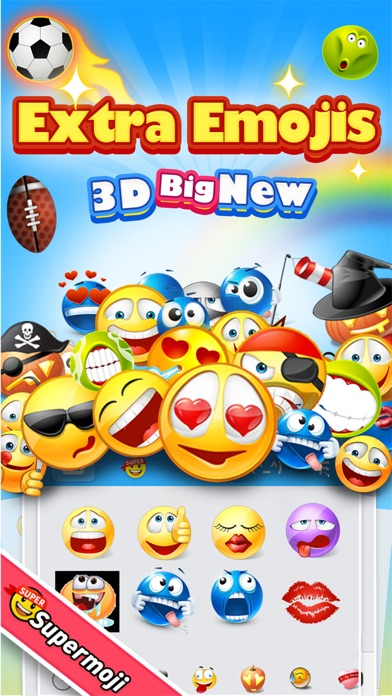Supermoji - Extra Big Emojis and 3D Animated Emoticons - AppRecs